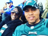 First football game with my love. I will NEVER wear an Eagles jersey at MetLife Stadium again! Terrible Idea...